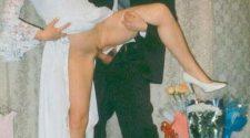 Pamiątkowe zdjęcie z nocy poślubnej doskonale zaświadcza o konsumpcji związku. Sprawdź zdjęcia porno okraszone humorem