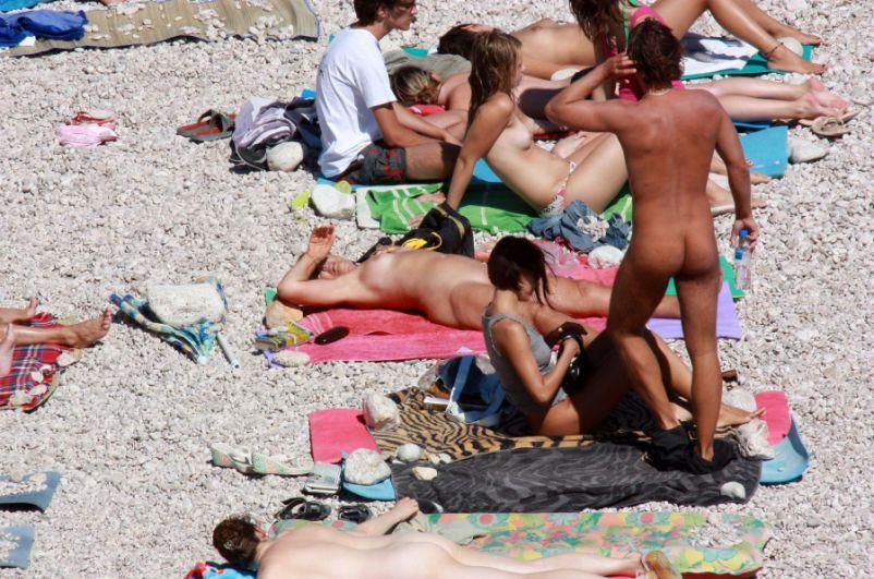 Grupa golasów zażywa kąpieli słonecznej