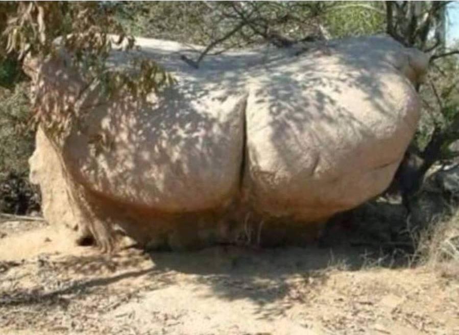 Wielki kamień wygląda tak samo jak dupa Twojej starej