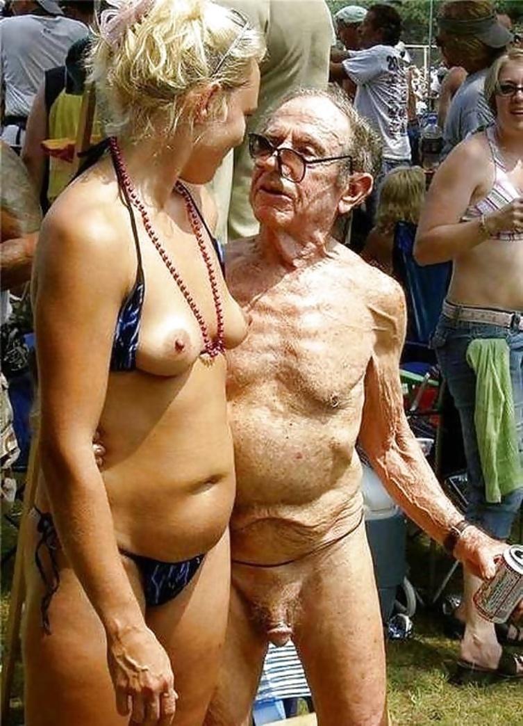 Dziarski dziadek nie wie co to wstyd