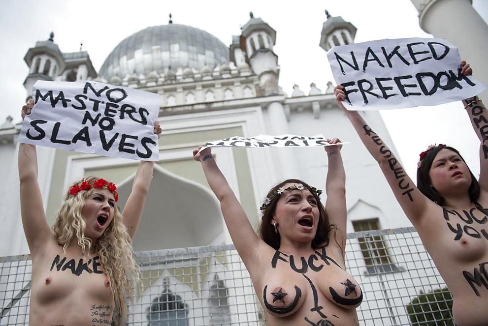 Protesty nagich kobiet są zawsze spoko